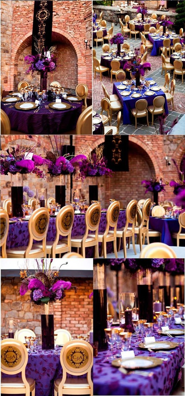 Top wedding color combinations for 2015 georgetown event - Purple and gold color scheme ...